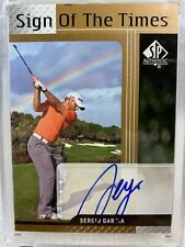 2012 UD SP Authentic SIGN OF THE TIMES SERGIO GARCIA Auto Autograph