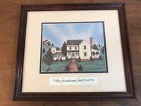 The Debby Stewart Collection Americana Folk Art Framed Print When Friends Meet
