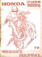 Werkstatthandbuch CR 125 M Elsinore