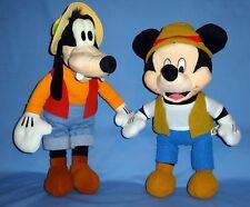 "DISNEY plush Safari Mickey Mouse-18""tall-Large;Goofy-20""NWT- BFF-Explorer;LOT-2"