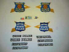 Indiana State Police  Patrol  Car Decals  New Scheme  1:43 FREE US SHIPPING
