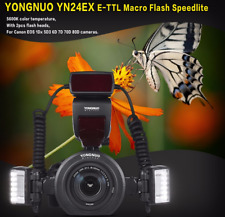 Yongnuo YN24EX TTL LED Macro Flash Speedlite + Flash Head Adapter Ring for Canon