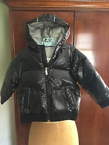 NEW HANNA ANDERSSON 100 Super Light Packable Down Jacket Black With Hood