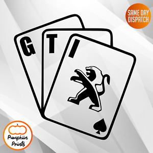 PUEGEOT GTI 307 308 206 207 208 Vinyl Car Sticker Side Window Decal CARDS