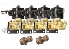 "air ride suspension valves four w/mount & adjustable slow down system parts 1/2"""