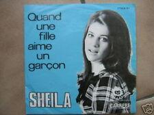 SHEILA 45 TOURS BELGIQUE QUAND UNE FILLE AIME UN GARCON