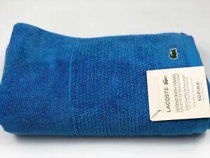Lacoste Legend Riviera Blue Hand, Wash or Bath Towels Supima Cotton NWT