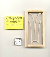 Window - Art Deco - 2123 wooden dollhouse miniature 1:12 scale 1pc USA made