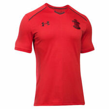 Camisetas de fútbol de manga corta en rojo entrenamientos