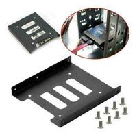 """2.5"""" to 3.5"""" S Metal Adapter Mounting Bracket Hard Drive Holder For PC Ho T J3Z9"""