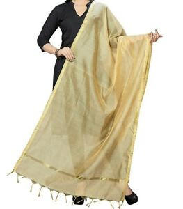 Women's  Art Silk Dupatta Plain Scarf Slote Fancy Wrap Chunni Party Wear