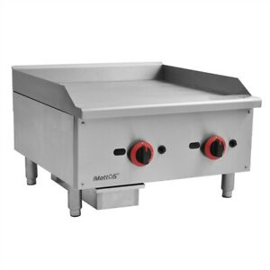 """Imettos Heavy Duty  Gas Griddle 16mm Plate / 24"""" /LPG/NG Gas/  Commercial"""