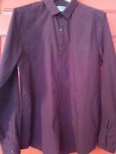 mens shirt burgundy topman large