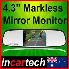 "4.3"" TFT LCD Car Rear View Mirror Monitor For Reversing Camera Kit & VCR DVD AU"