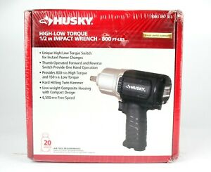 """*Husky High-Low Torque 1/2"""" Impact Wrench 800FT-LBS 1003 097 313"""