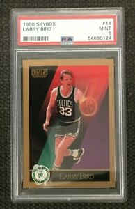 1990 Skybox #14 LARRY BIRD PSA 9 Mint - Boston Celtics