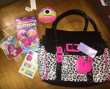 Claire's Leopard Bag Bunny Lip Gloss Tattoos Coin Purse Justice Stickers Easter