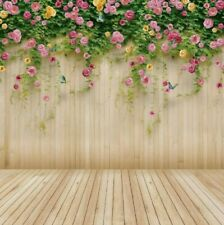AB3 Wolada 8ft x 8ft Floral Wood Photography Backdrop #8909