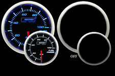 "Fuel Pressure Gauge- Electric Prosport Blue & White 52mm (2 1/16"") W/Sender"