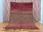 Antique Beni Mguild Moroccan Handmade Rug 6ft 2x8ft 4 Berber Fading Red Boho Rug
