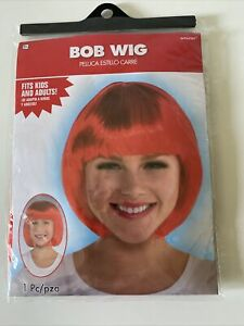 RED BOB WIG for ADULTS or KIDS ~ Birthday Halloween Party Supplies Costume Girl