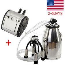 Portable Cow Milker Milking Bucket Tank Barrel stainless steel 304& L80 Pulsator