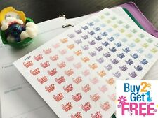 """PP255 -- Small """"Lazy Day"""" Life Planner Stickers for Erin Condren (96pcs)"""