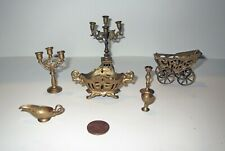 ANTIQUE DOLLHOUSE LOT - Miniature Victorian ACCESSORY COLLECTION
