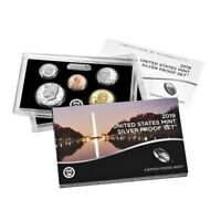"""2019 US Mint Proof Silver 10-Coin Set Comm (w/o Lincoln """"W"""" Reverse Proof Penny)"""