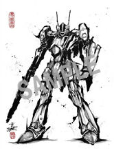 Macross F Frontier 10th Anniversary Ink Painting Character Postcard VF-25