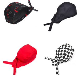 Pirates Skull Cap style Hat Kitchen Chef Waiter Biker Various Colours
