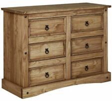 Puerto Rico 3 + 3 Drawer Chest - Dark Pine