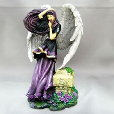 Violet Storm Angel Figurine - Twilight Garden Bradford Exchange