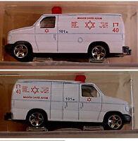 Israel RESCUE AMBULANCE Jewish MAGEN DAVID Model MDA First AID Diecast TOY CAR