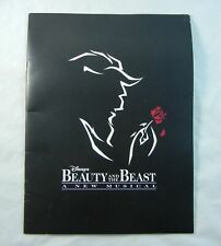 Beauty and the Beast Original Broadway Souvenir Program 1994 OBC Terrence Mann