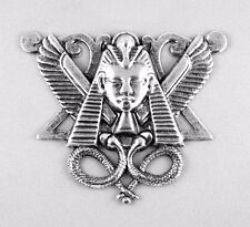 "Genuine Art Nouveau (Jugendstil) large Antique Silver Medallion ""Winged Pharaoh"""
