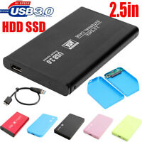 "2.5"" Hard Drive Case Adapter External HDD SSD  SATA to USB3.0Enclosure Tool Free"