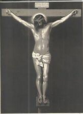 Holy card lamina grabado antique del Cristo de Velasquez santino image pieuse