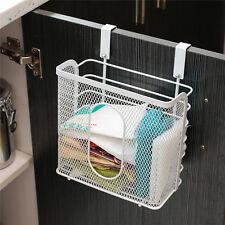 Plastic Garbage Bags Kitchen Storage Racks Basket Hanging Holder Saving Space