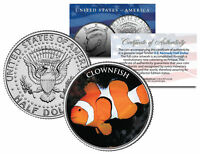 CLOWN FISH *Fish Series* JFK Kennedy Half Dollar U.S. Colorized Coin