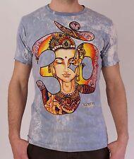 Herren T-Shirt Kurzarm mit Print Freizeit Goa Indie Vintage Yoga NEU Größe M,L