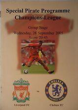 Programm Pirate UEFA CL 2005/06 Liverpool FC - Chelsea FC