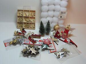 Restposten Deko Paket Schnäppchen Abverkauf Weihnachten Schneebälle Streuteile Q