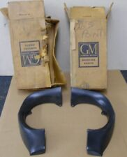 NOS PONTIAC 1963 LEMANS TEMPEST FRONT FENDER EXTENSIONS HEADLAMP EYEBROWS