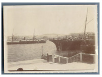 Russia, Crimea, Sevastopol (Севастополь), The Harbor  vintage citrate print Ti