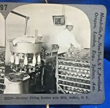 STEREOVIEW Photo ~ Milk Bottling Machine ~ Buffalo, NY ~ Keystone 97