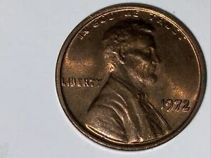 1972 Lincoln Head Penny. One Cent ERROR - Double Die
