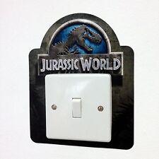 Jurassic World Park Light Switch Surround Sticker Cover Vinyl Kids Dinosaur