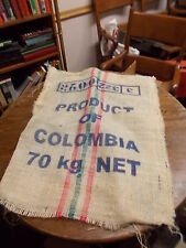 LARGE OLD VTG COFFEE SACK (FEED SACK SIZED), ALEXCAFE VERSALLES COLUMBIA PRODUCT