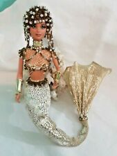 Vintage Barbie Mattel Collectible Fashion Outfit Doll Mermaid w Beaded Suit OOAK